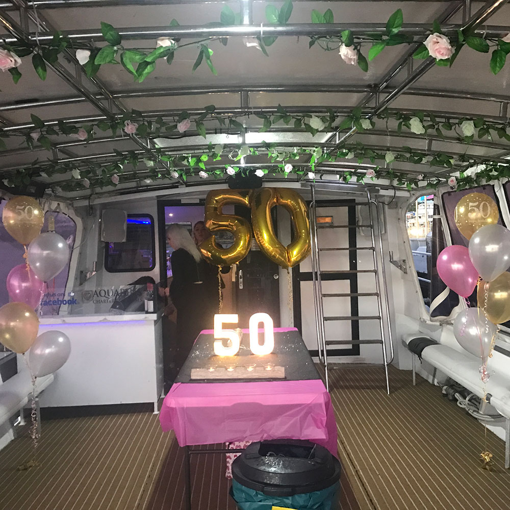 50th Birthday party on our boat